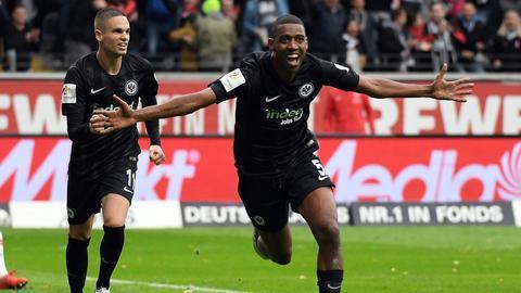Gelson Fernandes schoss die Eintracht gegen Leipzig per Abstauber in Führung.