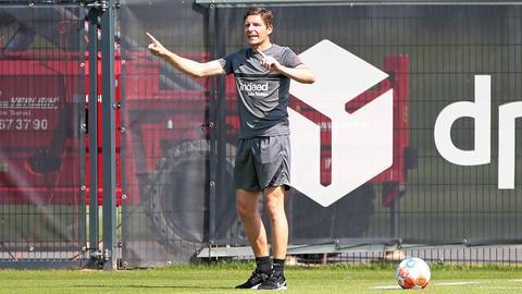 Oliver Glasner beim Test der Eintracht gegen Gießen
