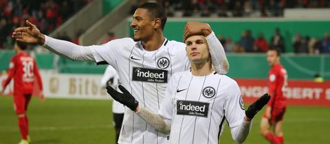Die Eintracht-Matchwinner Haller und Gacinovic