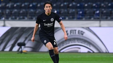 Makoto Hasebe im Trikot von Eintracht Frankfurt