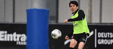 Makoto Hasebe im Eintracht-Trainingslager in Florida