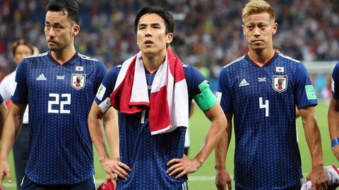 Makoto Hasebe (mit Handtuch) war nach der Niederlage restlos bedient.