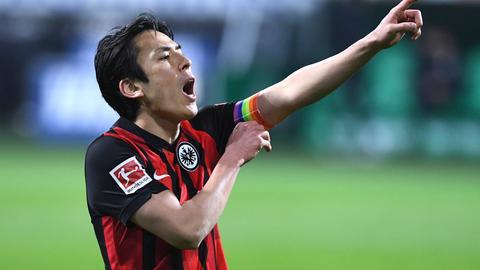 Auch Makoto Hasebe konnte die Eintracht-Niederlage nicht verhindern.