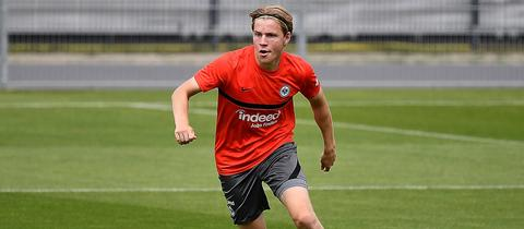 Jens Petter Hauge im Training von Eintracht Frankfurt
