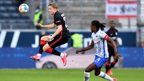 Jens Petter Hauge im Spiel der Eintracht gegen Hertha.