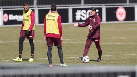 Hector, Kovac und Russ beim Training
