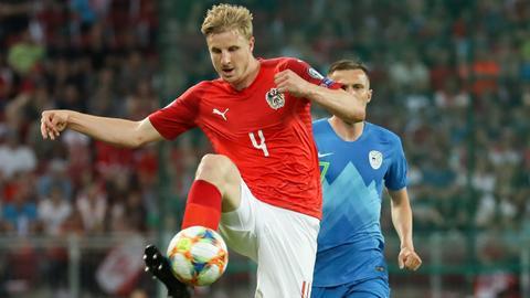 Martin Hinteregger im Spiel der Österreicher gegen Slowenien