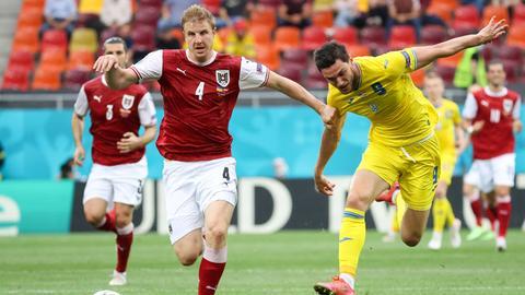 Martin Hinteregger im Spiel der Österreicher gegen die Ukraine