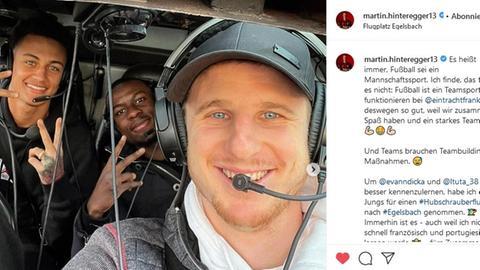 Hinteregger Hubschrauber Instagram