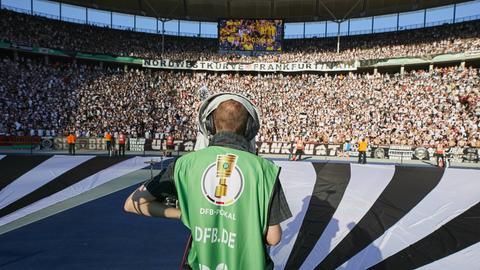 Eintracht-Fans beim Finale in Berlin