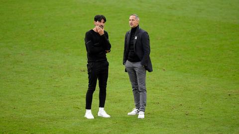 Verlassen die Eintracht beide am Saisonende: Sportdirektor Bruno Hübner (links) und Trainer Adi Hütter