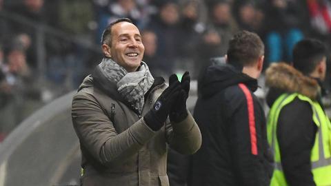 Adi Hütter konnte sich am Spiel zwischen seiner Eintracht und Leverkusen ergötzen.