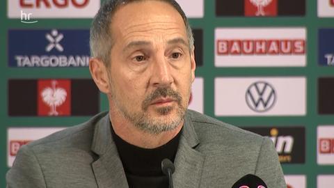 Adi Hütter auf der Eintracht-Pressekonferenz
