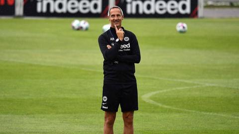 Adi Hütter beim Training von Eintracht Frankfurt