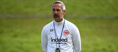 Eintracht-Coach Adi Hütter im Trainingslager in Florida