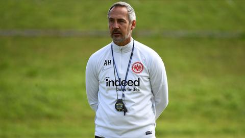 Eintracht-Coach Adi Hütter im Trainingslager in Florida