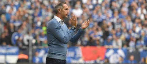 Eintracht-Trainer Adi Hütter hat seinem Team eine klare Struktur verpasst.