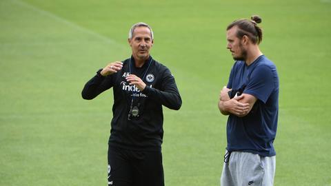 Alex Meier und Adi Hütter Eintracht Frankfurt