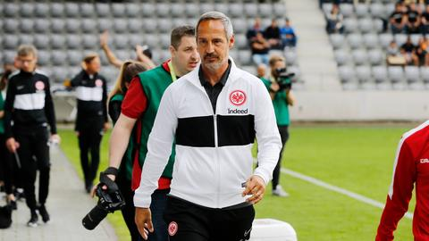 Eintracht-Trainer Adi Hütter rechnet stets mit Transferbewegungen.