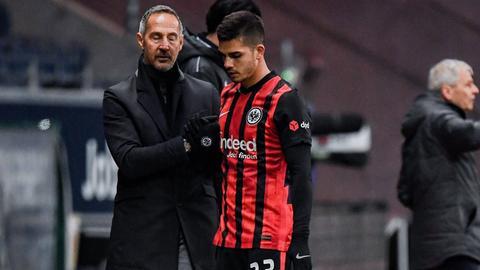 Adi Hütter und André Silva von Eintracht Frankfurt