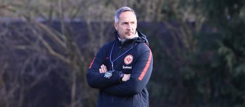 Eintracht-Coach Adi Hütter beim Training.