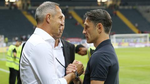 Eintracht-Trainer Adi Hütter löst sich Schritt für Schritt aus dem Schatten von Vorgänger Niko Kovac.