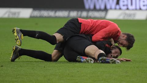 Jovic und Abraham von Eintracht Frankfurt