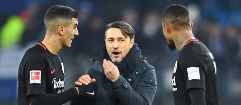 Barkok, Kovac und Boateng im Gespräch