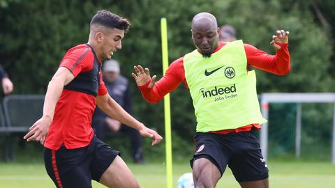Barkok und Willems im Training von Eintracht Frankfurt