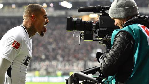 Kevin-Prince Boateng bejubelt seinen Treffer gegen Leipzig