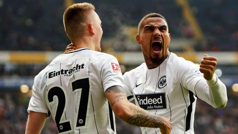 Kevin-Prince Boateng und Marius Wolf