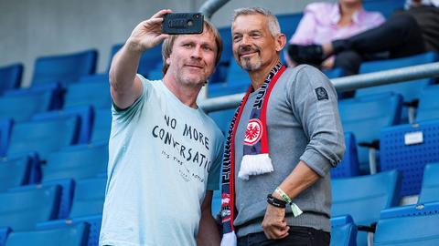 Ansgar Brinkmann beim Spiel der Eintracht in Hoffenheim