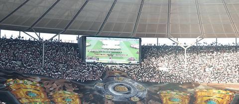 Choreografie der Frankfurter Fans