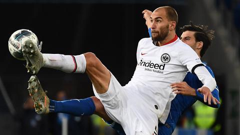 Bas Dost im Spiel von Eintracht Frankfurt gegen Hoffenheim