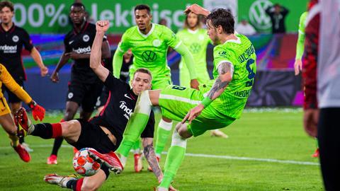 Jakic im Spiel der Eintracht gegen Wolfsburg