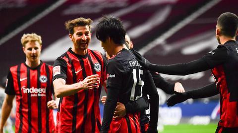 Jubel bei der Frankfurter Eintracht