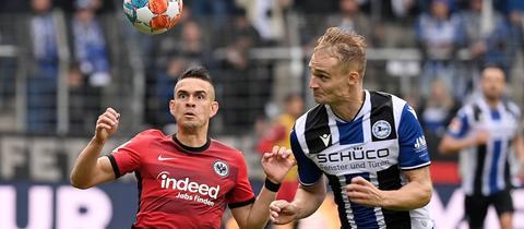 Borre von Eintracht Frankfurt gegen den Bielefelder Pieper
