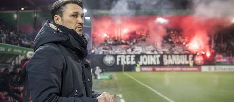 Eintracht-Fans zündeln in Heidenheim