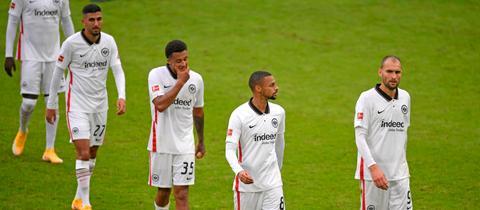 Die Spieler von Eintracht Frankfurt sind frustriert
