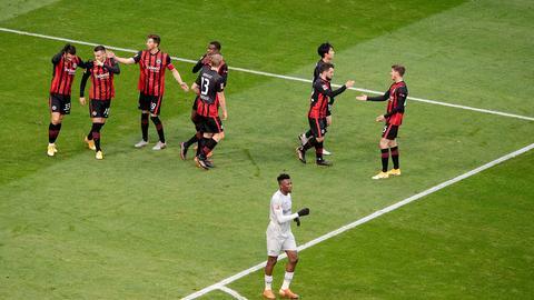 Jubel bei Eintracht Frankfurt