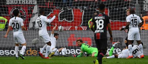 Eintracht-Frust in Leverkusen