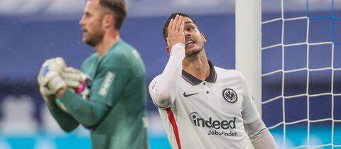 Frust bei Andre Silva von Eintracht Frankfurt