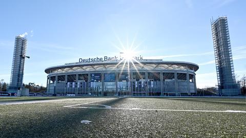 Das Stadion von Eintracht Frankfurt in der Außenansicht