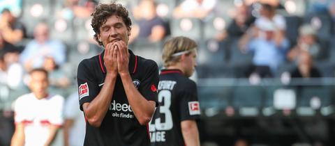 Frust bei Sam Lammers von Eintracht Frankfurt