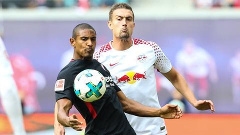 Sebastien Haller im Spiel gegen Leipzig