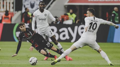 Kai Havertz im Spiel gegen Eintracht Frankfurt