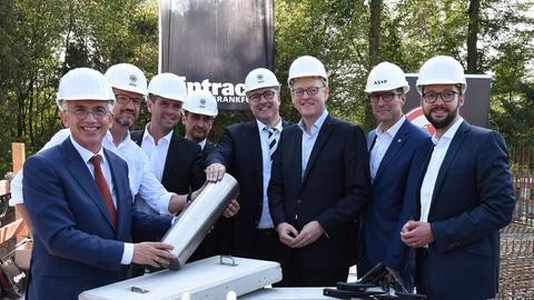 Grundsteinlegung bei Eintracht Frankfurt