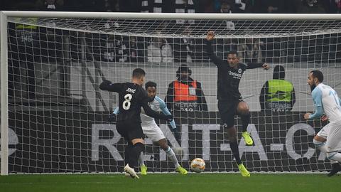 Luka Jovic trifft zur Führung gegen Marseille
