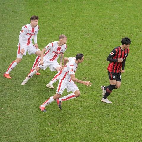 Daichi Kamada von Eintracht Frankfurt im Spiel gegen Köln
