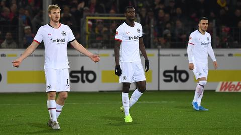 Hinteregger, N'Dicka und Kostic von Eintracht Frankfurt